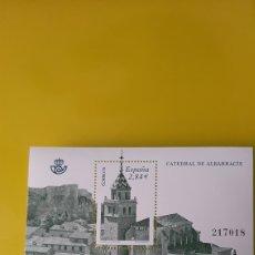Sellos: CATEDRAL ALBARRACIN TERUEL EDIFIL 4657 HOJA BLOQUE NUEVO O USADA SOLICITA A FILATELIA COLISEVM. Lote 244182135