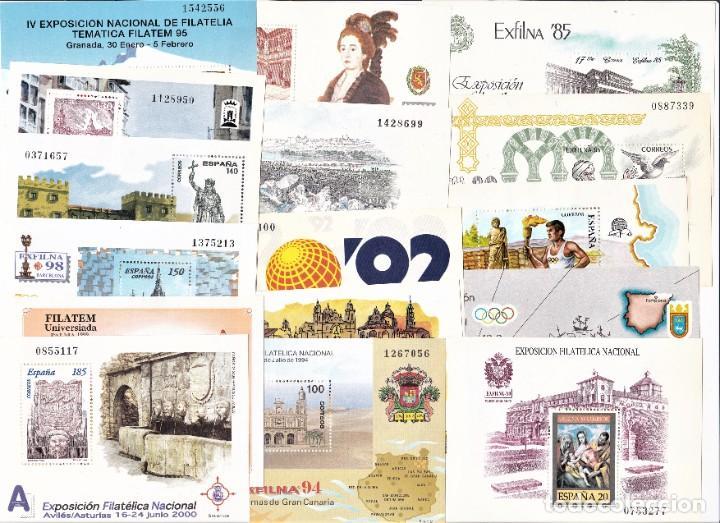 ESPAÑA HOJITAS EXFILNA LOTE DESDE 1985 AL 2000. PERFECTO ESTADO (Sellos - España - Juan Carlos I - Desde 1.986 a 1.999 - Nuevos)