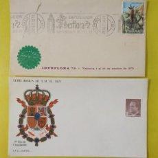 Sellos: CARTA IBERFLORA 72 FRANQUEO PUBLICITARIO MECÁNICO, SOBRE SERIE BASICA SM EL REY. Lote 244614715