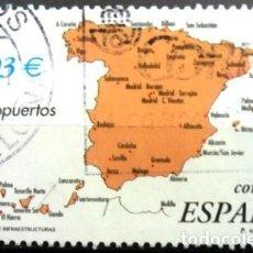 Sellos: SELLOS ESPAÑA 2001- FOTO 062 -AEROPUERTOS - USADO. Lote 244648405