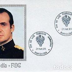 Sellos: ESPAÑA.- 2617 SOBRE ILUSTRADO CON MATASELLOS DIA DE LAS FUERZAS ARMADAS EN BARCELONA. Lote 244711275