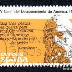 Sellos: EDIFIL 2862 ESPAÑA 1986 V CENTENARIO DESCUBRIMIENTO AMÉRICA. USADO. Lote 244712020