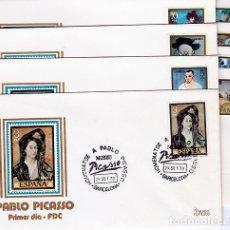 Sellos: JUEGO DE 8 SOBRES MATASELLO HOMENAJE A PICASSO EN EL MUSEO DE BARCELONA.. Lote 244712210