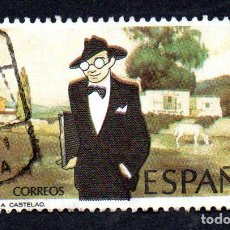 Sellos: EDIFIL 2873 ESPAÑA 1986 CENTENARIO NACIMIENTO ALFONSO RODRIGUEZ CASTELAO. USADO. Lote 244712860