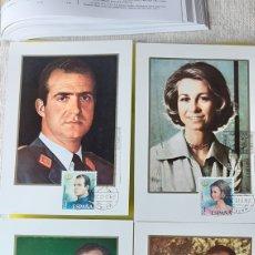 Sellos: ESPAÑA 1975 PRIMERA SERIE SELLOS JUAN CARLOS I/SOFIA EDIFIL 2392/5 TARJETA POSTAL MATASELLO RARA. Lote 244802680