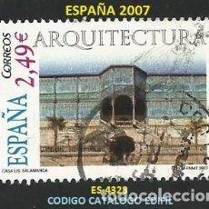 Sellos: ESPAÑA 2007 - ES 4328 - TEMA ARQUITECTURA (VER IMAGEN) - 1 SELLO USADO. Lote 245093480