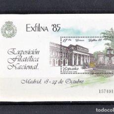 Sellos: ESPAÑA 1985 HOJITA EXFILNA EXPOSICIÓN FILATÉLICA NACIONAL.. Lote 245195005