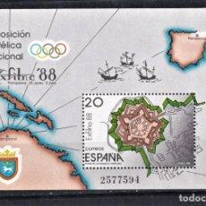 Sellos: ESPAÑA 1988 HOJITA EXPOSICIÓN FILATÉLICA DE EXFILNA 88. Lote 245197555