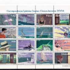 Selos: ESPAÑA 2004 MINI PLIEGO CORRESPONDENCIA EPISTOLAR, ESCOLAR.. Lote 245210650