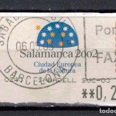 Sellos: ATM 2002 - SALAMANCA. Lote 245261000
