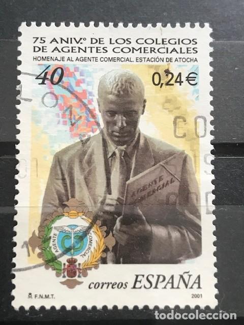 EDIFIL 3776 SELLOS USADOS DE ESPAÑA AÑO 2001 AGENTES COMERCIALES 3806 (Sellos - España - Juan Carlos I - Desde 2.000 - Usados)