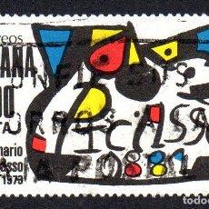 Sellos: EDIFIL 2609 ESPAÑA 1981 HOMENAJE A PICASSO. USADO. Lote 245738950