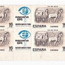 Sellos: ESPAÑA 1983 4 SELLOS DÍA DEL SELLO. Lote 245775040