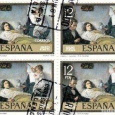 Sellos: ESPAÑA 1978 SERIE PABLO RUIZ PICASSO. LOTE DE 20 SELLOS MATASELLADOS ENLAZADOS.. Lote 245909915