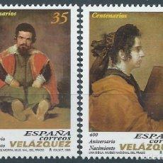 Sellos: 1999. ESPAÑA. EDIFIL 3658/9**MNH. 400 ANIVERSARIO NACIMIENTO DIEGO VELÁZQUEZ. PINTURA/PAINTING.. Lote 245949015