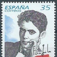 Sellos: 1998. ESPAÑA. EDIFIL 3549**MNH. CENTENARIO DEL NACIMIENTO DE FEDERICO GARCÍA LORCA. ESCRITOR/WRITER.. Lote 245949905