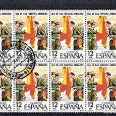 Sellos: ESPAÑA 1981 LOTE 8 SELLOS MATASELLADOS DIA DE LAS FUERZAS ARMADAS.. Lote 245962325