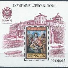 Sellos: 1989. ESPAÑA. EDIFIL 3012**MNH. HOJITA. EXFILNA'89. TOLEDO. PALACIO DE TAVERA. PINTURA DE EL GRECO.. Lote 245962905