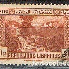 Sellos: LIBANO 217, PUENTE DEL PERRO, USADO. Lote 245977460