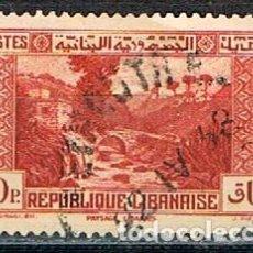 Sellos: LIBANO 214, PUENTE DEL PERRO, USADO. Lote 245977580