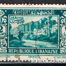 Sellos: LIBANO 175 (AÑO 1930), CASTILLO DE LOS TEMPLARIOS EN TRIPOLI, USADO. Lote 245978265