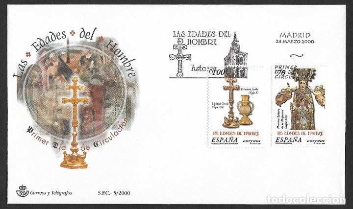 ESPAÑA - SPD. EDIFIL NSº 3700/01 CON DEFECTOS AL DORSO (Sellos - España - Juan Carlos I - Desde 2.000 - Cartas)
