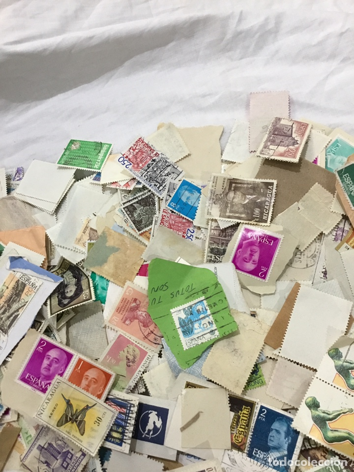 Sellos: Caja de 1.025 kg de sellos antiguos usados . Ver fotos - Foto 5 - 246013205
