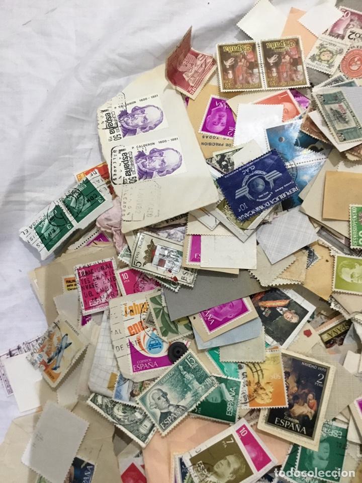 Sellos: Caja de 1.025 kg de sellos antiguos usados . Ver fotos - Foto 7 - 246013205