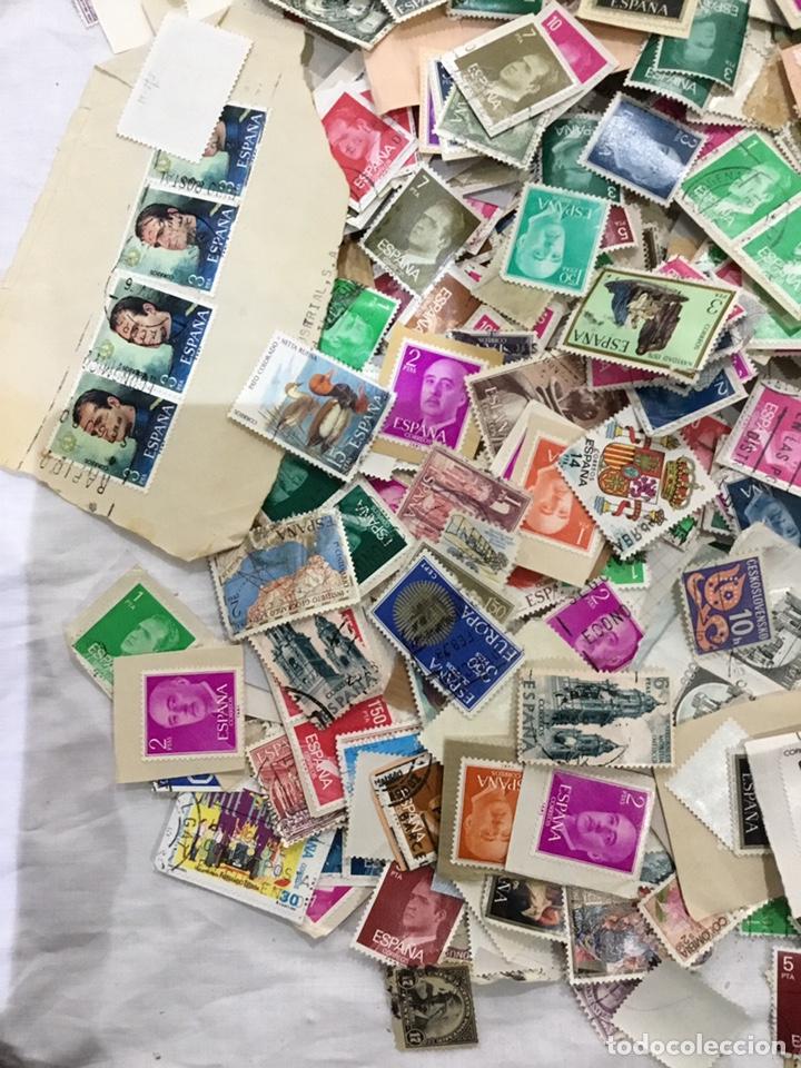 Sellos: Caja de 1.025 kg de sellos antiguos usados . Ver fotos - Foto 8 - 246013205
