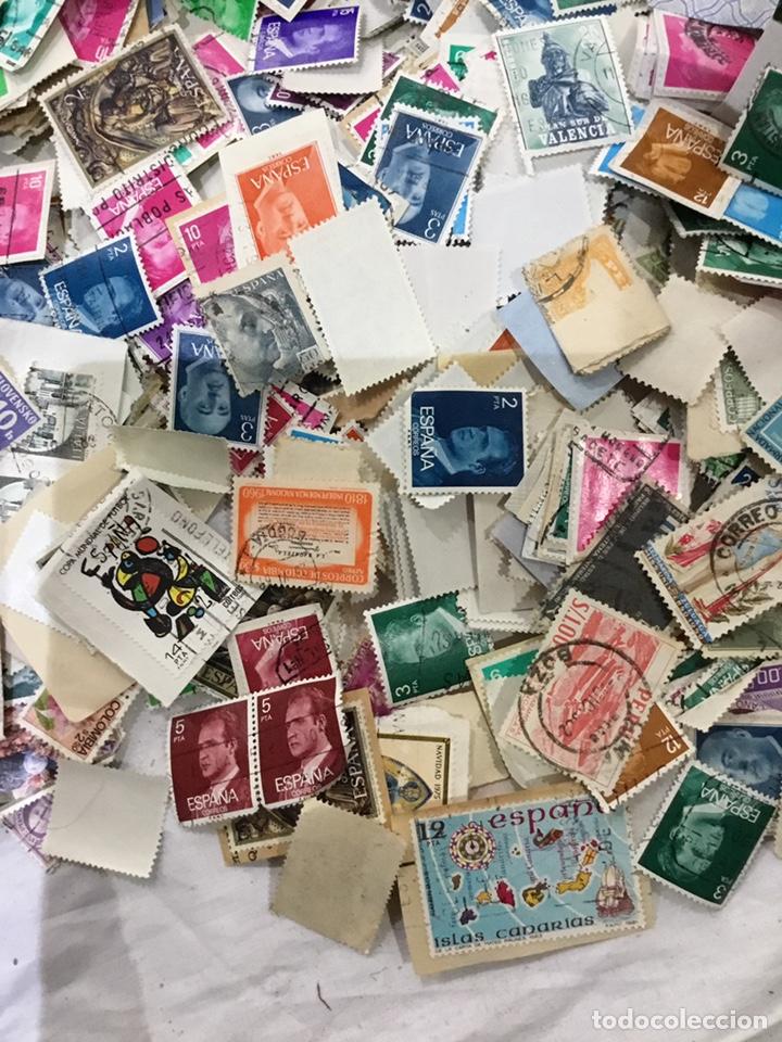 Sellos: Caja de 1.025 kg de sellos antiguos usados . Ver fotos - Foto 10 - 246013205