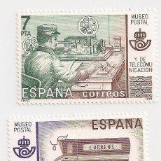 Sellos: AÑO 1981 - MUSEO POSTAL - 2 VALORES - EDIFIL 2637 Y 2638 - NUEVOS. Lote 246057605