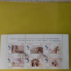 Sellos: USADO 3723/8 EDIFIL CABALLOS FAUNA ESPAÑOLA EXPOSICIÓN MUNDIAL FILATELIA COLISEVM. Lote 246103350