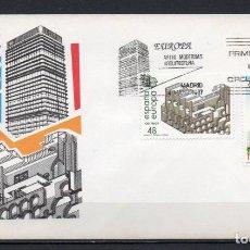 """Sellos: FDC, SOBRE DE PRIMER DÍA DE EMISIÓN DE ESPAÑA """"EUROPA, ARTES MODERNAS, ARQUITECTURA"""", AÑO 1987. Lote 246117625"""
