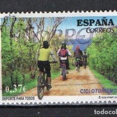 """Sellos: SELLO USADO DE ESPAÑA """"DEPORTES, CICLOTURISMO"""", AÑO 2013. Lote 246122065"""