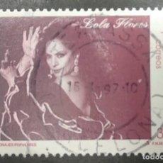 Sellos: ESPAÑA 1996 - LOLA FLORES - EDIFIL 3443. Lote 246156985