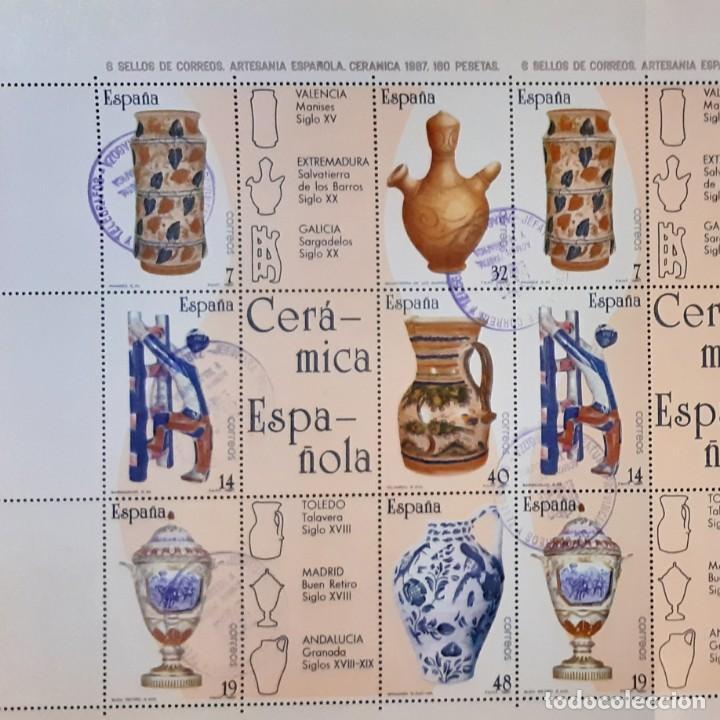 Sellos: 1987.Artesanía Española.Pliego.Usado.Edifil 2891-2896 - Foto 2 - 246207415