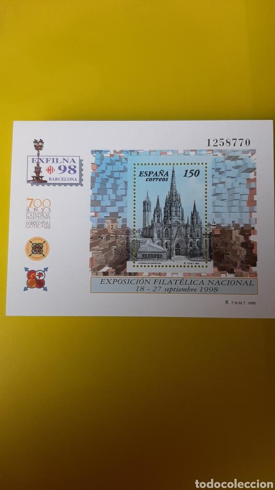 EDIFIL 3557 NUEVA O USADA SOLICITA A FILATELIA COLISEVM EXFILMA 1998 BARCELONA CATEDRAL ARQUITECTUR (Sellos - España - Juan Carlos I - Desde 1.986 a 1.999 - Usados)