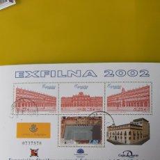 Sellos: USADO EDIFIL 3906 EXFILMA 2002 ESPAÑA SALAMANCA EXPOSICIÓN FILATÉLICA NACIONAL ARQUITECTURA CAJA. Lote 246225190