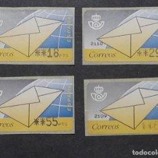 Sellos: ATM - NUEVO - ESPAÑA 1994 - SERIE 4 VALORES - CARTA. Lote 246350370