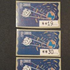 Selos: ATM - NUEVO - ESPAÑA 1996 - SERIE 3 VALORES - TIERRA Y ESPACIO. Lote 246350980