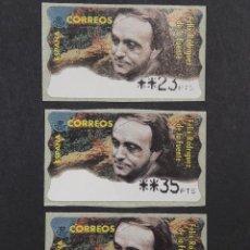 Sellos: ATM - NUEVO - ESPAÑA 1998 - SERIE 3 VALORES - FELIX RODRIGUEZ DE LA FUENTE. Lote 246351420