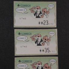 Sellos: ATM - NUEVO - ESPAÑA 1998 - SERIE 3 VALORES - MORTADELO Y FILEMON. Lote 246351540