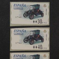Sellos: ATM - NUEVO - ESPAÑA 2001 - SERIE 3 VALORES - FORD T. Lote 246352180