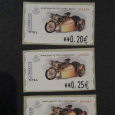 Sellos: ATM - NUEVO - ESPAÑA 2002 - SERIE 3 VALORES - MOTOS MONET GOYON LB, (1932). Lote 246355770