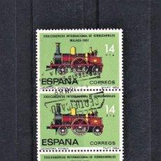Sellos: ESPAÑA 1982 XXIII CONGRESO INTERNACIONAL DE FERROCARRILES USADOS.. Lote 246482845