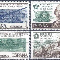 Sellos: EDIFIL 2322-2325 BICENTENARIO DE LA INDEPENDENCIA DE LOS ESTADOS UNIDOS 1976 (SERIE COMPLETA).MNH **. Lote 246628870