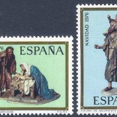 Sellos: EDIFIL 2368-2369 NAVIDAD. CONGRESO INTERNACIONAL DE BELENISTAS 1976. MNH **. Lote 246636610