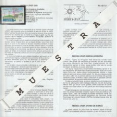Timbres: BOLETÍN-FOLLETO-INFORMACIÓN 14-10-06 CON SELLOS MONTADOS. AMÉRICA-UPAEP. ESPAÑA 4275.. Lote 240039290