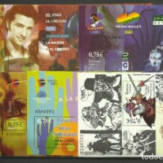 Sellos: HOJAS DE LA EXPOSICION MUNDIAL DE FILATELIA JUVENIL ESPAÑA 2002. Lote 247511535