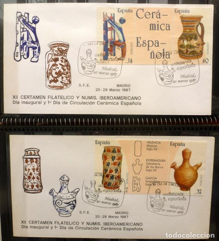 SELLOS ESPAÑA 1987 - FOTO 169 - 2 SOBRES (Sellos - España - Juan Carlos I - Desde 1.986 a 1.999 - Cartas)